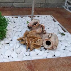 Kamen Beli oblutak 1-3cm Thasos